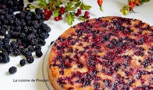 Gâteau yaourt aux mûres