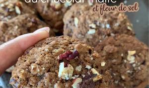Les cookies moelleux au chocolat malté et fleur de sel
