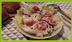 Salade de pommes de terre à la crème de brandade de morue