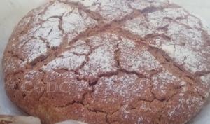 Pain cocotte cuisson à froid àla farine de blé bio semi complète