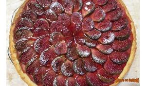 Tarte aux figues cuites à la crème pâtissière