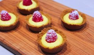 Mini-Tartelettes au Lemon Curd et Framboises