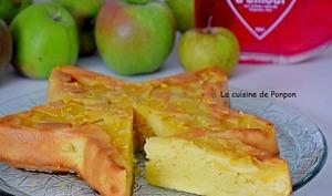 Gâteau yaourt aux pommes et combava