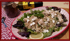 Salade de poulet quinoa menthe