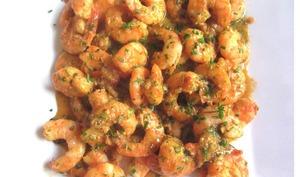 Crevettes asiatiques au beurre et à l'ail