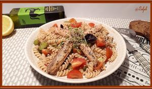 Salade de pâte et sardines