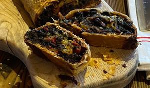Strudel aux feuilles de poirée et fromage bleu d'Auvergne