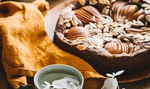 Gâteau moelleux au chocolat et poires sans gluten