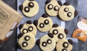 Biscuits panda vanille chocolat