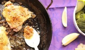 Hauts de cuisses de poulet au citron confit