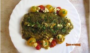 Maquereaux en croûte de pesto aux tomates cerises - sucreetepices.over-blog.com