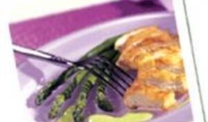 Filets de dinde à la crème d'asperges