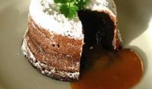 Fondant au Chocolat, Coeur de Caramel au Beurre Salé