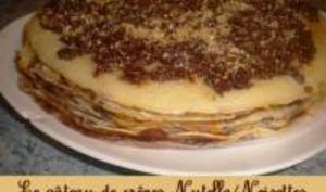 Gâteau de Crêpes Nutella Noisettes