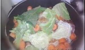 Lapin aux Légumes avec sa Sauce au Foie Gras