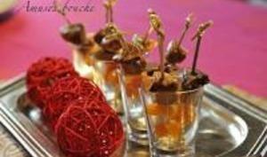Mini-Brochettes de Foie Gras, Figues et Abricots