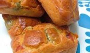 Mini-Cakes au Jambon & aux Olives