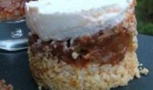 Mini Cheese Cakes à la Caponata d'Aubergines & au Chèvre Frais