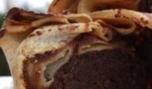 Moelleux au Chocolat et Amandes en Aumonières