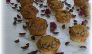 Muffins Lait de Coco et Pétales au Cacao au Coeur Fruité