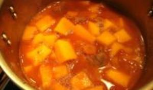 Osso bucco de dinde au potiron et aux carottes