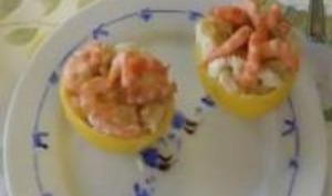 Pamplemousse Garni aux Crevettes et Raisins