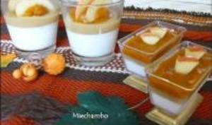 Pannacotta à la Mousse de Potimarron et sa Fine Compote de Pommes en Gelée aux Epices