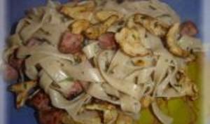 Pâtes à la Châtaigne et Champignons Frais