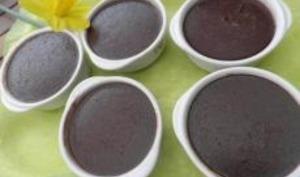 Petites Crèmes au Chocolat cuites au four