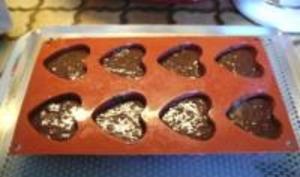 Petits coeurs au chocolat