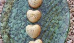 Petits Coeurs au Chocolat Blanc et Pistaches