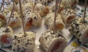 Petits roulés saumon / pavots