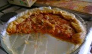 Pizza aux champignons/lardons