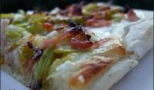 Pizza Blanche aux Poireaux