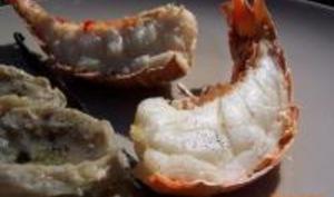 Queues de Langoustines Grillées au Pastis et à la Vanille
