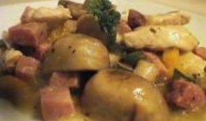 Ragoût de Poulet au Jambon