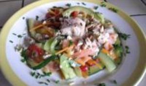 Salade aux Légumes et Deux Saumons