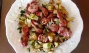 Salade de Gésiers de Poulet Confit