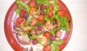 Salade fraîche de la mer