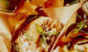 Suprêmes de pintade en papillote à la menthe