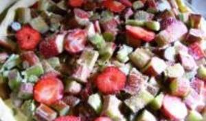 Tarte Fraises / Rhubarbe