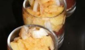 Verrines Boudin-Pommes aux Épices