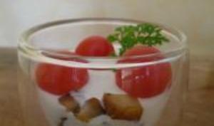 Verrines Tomates, Foie Gras et Champignons