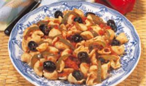 Pâtes à la sauce aux olives et anchois