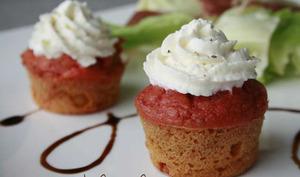 Cupcake Betterave Pomme Fenouil, mousse de Chèvre au Miel