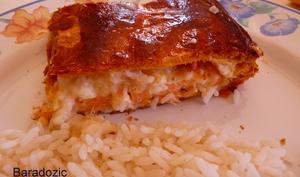 Feuilleté de saumon aux crevettes