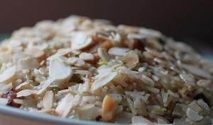 Riz gras aux fruits secs