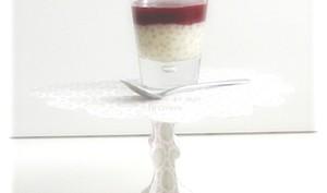 Perles du Japon à la Vanille et Coulis de Fruits Rouges