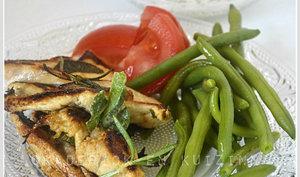 Poulet mariné à la plancha et sa sauce blanche