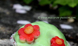 Cupcakes de printemps : fraise, verveine et chocolat blanc